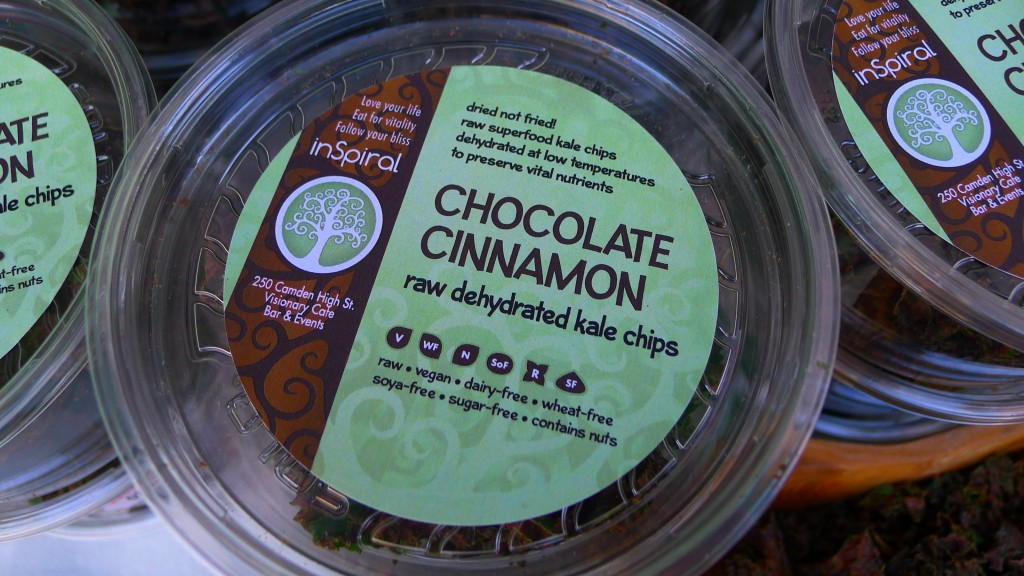 Chocolate Cinnamon raw kale chips