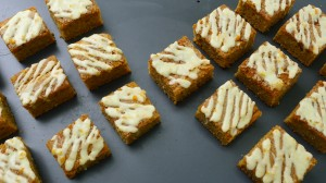 carrot cake with orange icing