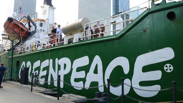 The Arctic Sunrise - Greenpeace UK fundraiser - The Arctic Sunrise, West India Millwall Docks