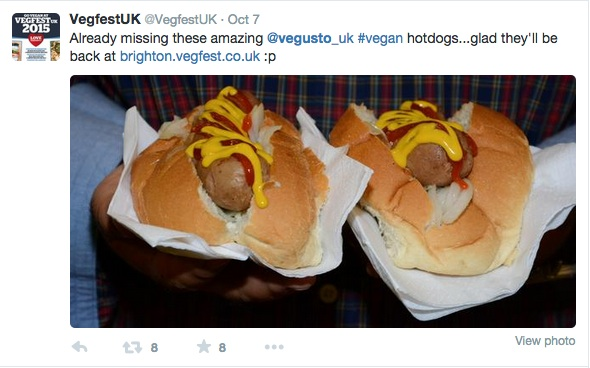 Vegusto Hot Dogs! VegFest Brighton